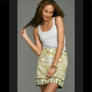 J CREW #90969 Trastevere Paisley A Line Mini Skirt